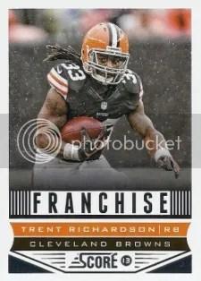 2013 Score Franchise Trent Richardson