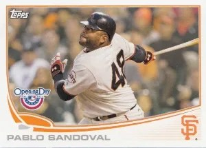 2013 Topps Opening Day #212 Pablo Sandoval Base