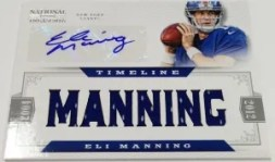 2012 Panini National Treasures Eli Manning Timeline Auto