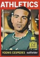 2013 Topps Heritage Yoenis Cespedes Red