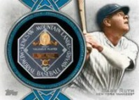 2013 Topps Series 1 Babe Ruth MVP Manufactured Relic Card