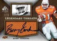 2012 Sp Authentic Barry Sanders Autograph