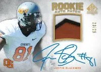 2012 Sp Authentic Justin Blackmon Auto Patch