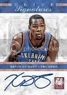 2012-13 Panini Elite Kevin Durant Autograph
