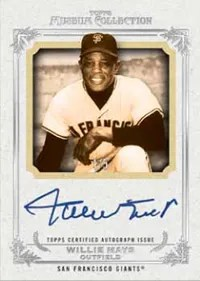 2013 Topps Museum Collection Willie Mays Auto