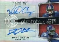 2012 Bowman Sterling Dual Autograph Giants