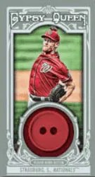 2013 Topps Gypsy Queen Strasburg Button