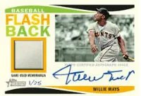2013 Topps Heritage Willie Mays Flashback