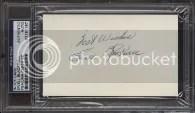 Ewell Blackwell Cut Signature