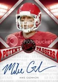 2013 Press Pass FanFare Potent Passers Mike Glennon Auto