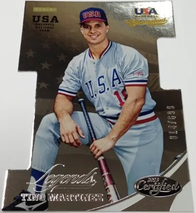 2013 Panini USA Baseball Champions Tino Martinez Legends Card