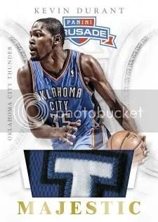 12/13 Panini Crusade Basketball Majestic Prime Material Kevin Durant