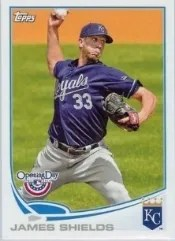2013 Topps Opening Day #94 James Shields Base