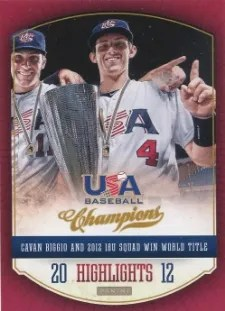 2013 Panini USA Champions Baseball Highlights Insert