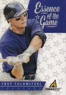2013 Pinnacle Essence of the Game Troy Tulowitzki Insert