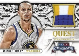 13/14 Panini Crusade Quest Memorabilia Stephen Curry