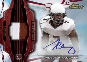 2014 Topps Finest Jadeveon Clowney Auto Patch RC
