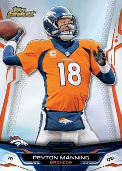 2014 Topps Finest Peyton Manning Base Card