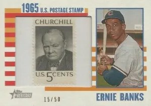 2014 Topps Heritage Postal Stamp Relic
