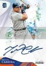 2014 Topps Tek Miguel Cabrera Autograph