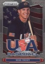 2013 Panini Prizm Mike Trout USA