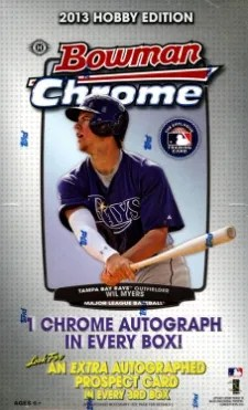 2013 Bowman Chrome Baseball Box