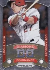 2014 Panini Prizm Diamond Dominance Mike Trout Insert Card