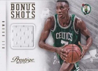 13/14 Panini Prestige Bonus Shots Dee Brown Materials