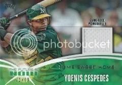 2014 Topps Series 1 Yoenis Cespedes Relic