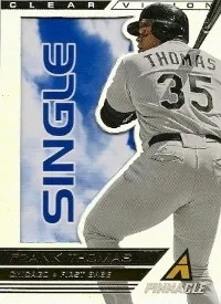 2013 Pinnacle Frank Thomas Clear Vision Single