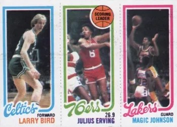 1980-81 Topps Bird Erving Magic Rookie Card