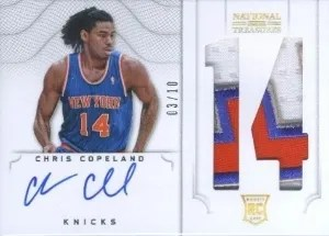 2012/13 Panini National Treasures Chris Copeland Jersey # Auto/Patch RC #/10