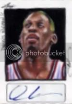 2014 Leaf Best of Basketball Rodman Sketch