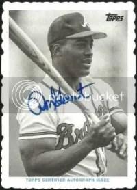 2014 Topps Archives Mini Deckle Ron Gant Autograph #/25