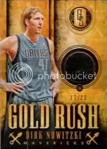 13/14 Panini Gold Standard Dirk Nowitzki Gold Rush Card