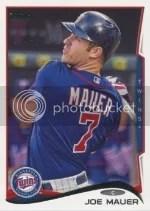 2014 Topps Series 1 Joe Mauer Variation
