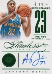 2012/13 Panini Flawless Benchmarks Emerald Anthony Davis