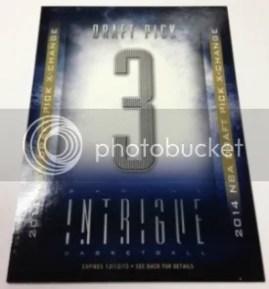 13/14 Panini Intrigue 14/15 NBA Draft X-Change Card