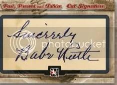 ITG Babe Ruth Cut Signature