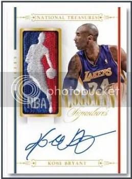 2013-14 Panini National Treasures Kobe Bryant Logoman Autograph Card