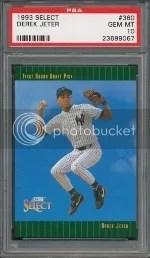 1993 Score Select Derek Jeter Rookie Card #360 Graded PSA 10 Gem Mint