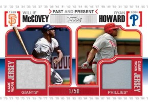 2010 Topps Past Present Jersey Cards