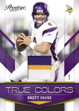 2010 Panini Prestige Football Brett Favre True Colors