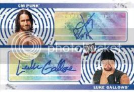 2010 Topps WWE CM Punk Luke Gallows Autograph