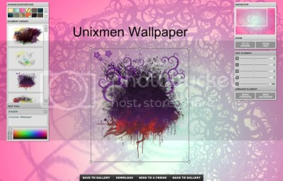 Create your own wallpapers online with X3Studios - Unixmen