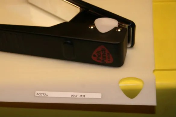 acetal sheeting,natural,guitar picks,pick punch,pick,punch,puncher,diy,make your own,homemade,pickpunch.com,www.pickpunch.com