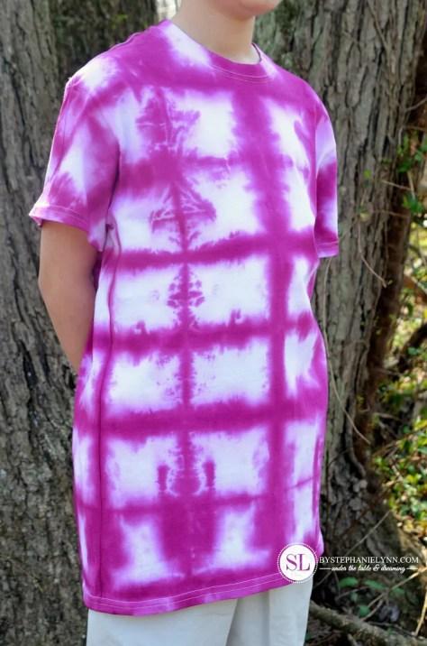 Accordion Block Tye Dye Pattern