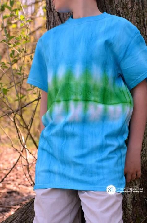 Center Stripe Tie Dye Patten