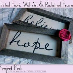 Inspiring Printed Fabric Wall Art and Diy Reclaimed Wooden Frames