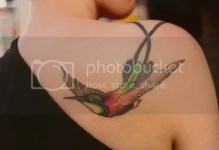 Runners Lesson From Humming Bird Tattoo Picture